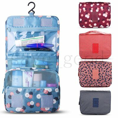 Ladies Wash Bag Toiletry Cosmetic Travel MakeUp Hanging Folding Organizer AU