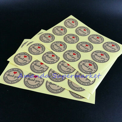 Vintage Kraft Sticker Hand Made With Love Sticker 38mm Hand Made DIY 120pcs/lot
