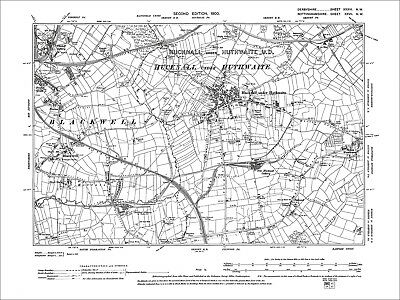 Tibshelf (E), Blackwell, Sutton Woodhouse, Old Map Derbyshire 1900: 36-NW