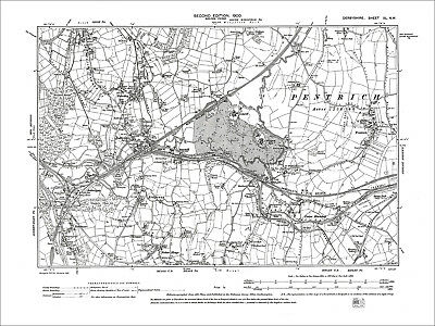 Nether Heage, Pentrich, Old Map Derbyshire 1900: 40-NW