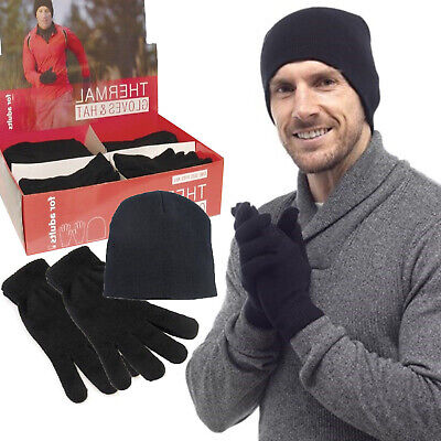 Mens Thermal Hat And Gloves Warm Winter In Gift Box Gift For Reatilers