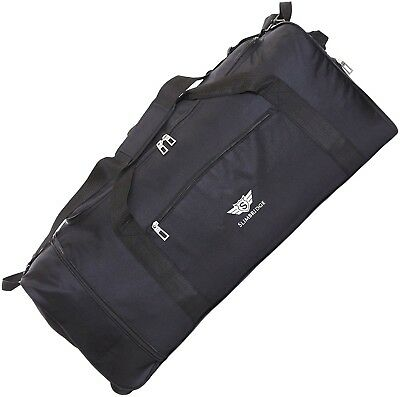 Slimbridge Havant Large 80cm Foldable Wheeled Bag, Black