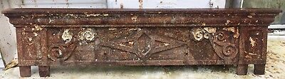 Beautiful Antique Cast Iron Window Door Pediment Architectural Salvage 1 of 3 #1