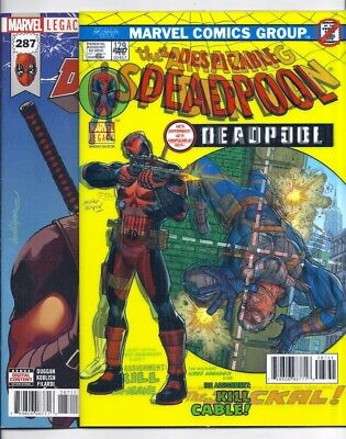 Despicable Deadpool #287 And #287 Lenticular Spider-Man #129 Homage Variant Nm