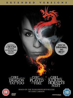The Girl with the Dragon Tattoo Trilogy (Extended Versions) (DVD)