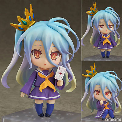 No Game No Life Shiro 653# Nendoroid Action Figure toy doll change face