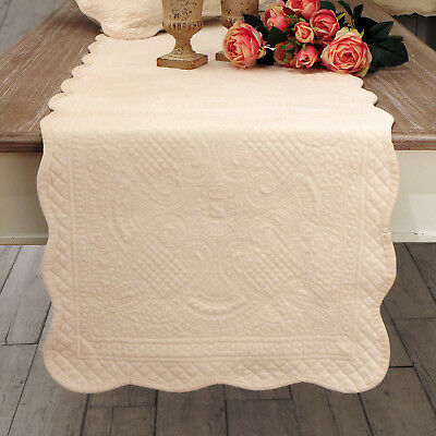 Runner Shabby chic Boutis Velour Collection Colore Avorio 50 x 150