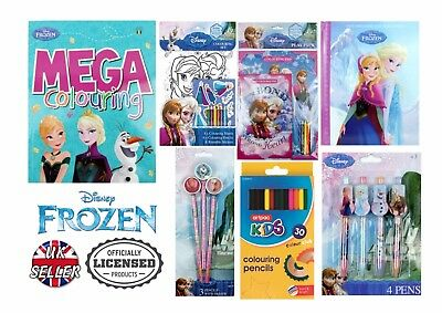 Official Licensed Disney Frozen 59PC Stationery Set Colouring Book Pencils Pens