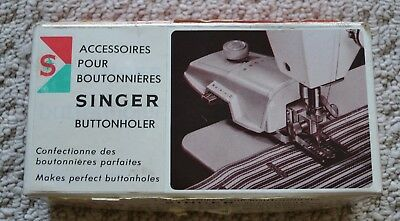 VTG Singer Slant Sewing Machine Buttonholer Stitch attachment templates  489500