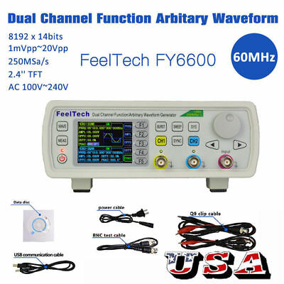 FY6600 60MHz Dual-channel DDS Function Signal Generator Arbitrary Waveform