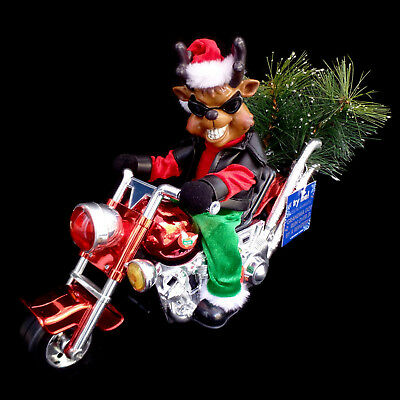 """""""GRANDMA GOT RUN OVER BY A REINDEER"""" / ANIMATED FIGURE on MOTORCYCLE / SEE VIDEO"""
