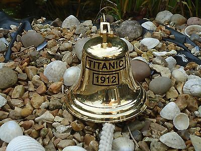 Large Titanic Ships Brass Bell with Rope 920 grams in Weight / bar pub door desk