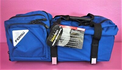 Brand New Ferno Oxygen Carry Case Jumbo D Size EMS EMT Airway Bag 11x22x8""