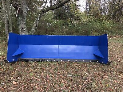 Snow Pusher Skid Steer and Bucket Mount Attachment 6 - 14 foot Snow Box Box Plow