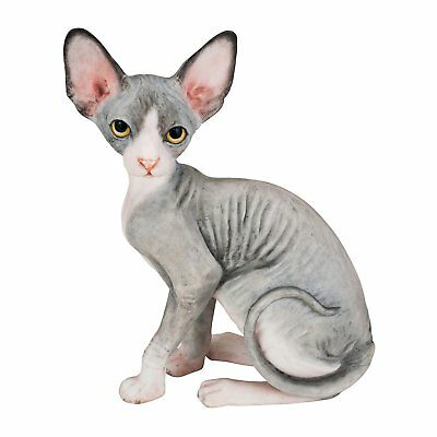 """Sphynx Cat Hand Painted Statue 4.1"""""""