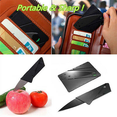 Folding Cardsharp Sharp Wallet Knife Credit Card Razor Survival Home Tool Thin