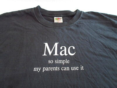 Vintage T Shirt Mac So Simple My Parents Can Use It XL Large ? Apple Macintosh