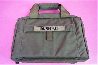NEW Heavy Duty Green BURN KIT EMT Medical Ambulance Carry Supply Bag Kit  14x9x5
