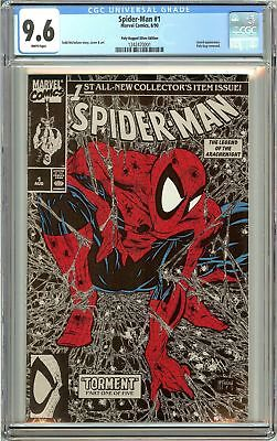 Spider-Man #1 (1990) CGC 9.6 White Pages 1242470001 Poly-Bagged Silver Edition