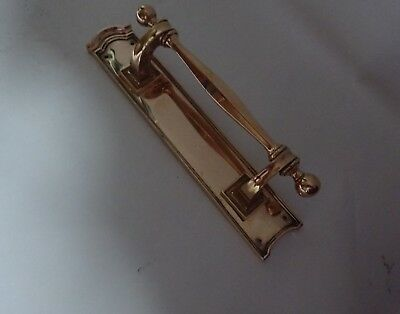 Original Antique Victorian Large Heavy Bronze  Door Pull Push Handle