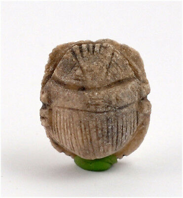 Egypt Late Period 26-30th Dynasty light-brown heart scarab