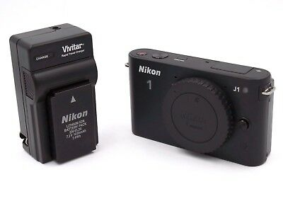 Nikon 1 J1 Mirrorless Digital Camera Body - with Body Cap, Battery & Charger