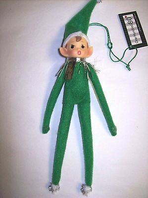 "10"" Bendable Green Elf Ornament with Soft Vinyl Face by ""One Hundred 80 Degrees"""