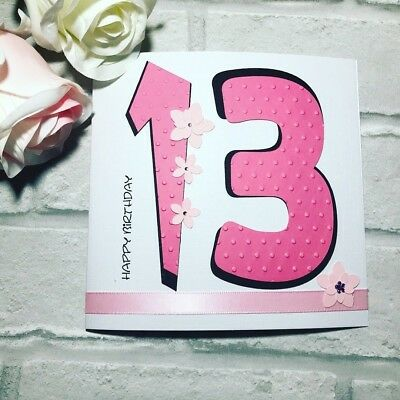 Happy 13th Birthday Card For Girls