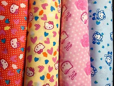 Joblot 80 Hello Kitty Job-lot of scarfs squares pink, red, blue red 20 ea/colour