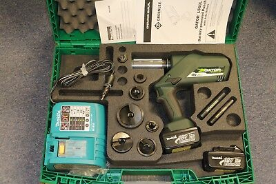 Greenlee Gator Cordless Battery Hydraulic Knockout Conduit Punch Driver Set Kit