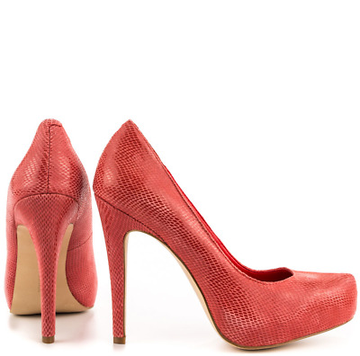 81d0617d2e9 BCBGENERATION DRITA WOMENS Red Suede Leather Heels Pumps Shoes 7 ...