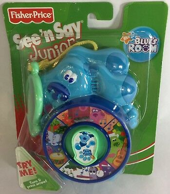 Fisher Price Blue's Clues Room Mini Clip On See 'N Say Junior 2006 New