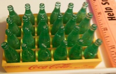 Vintage Plastic Miniature Coca Cola Bottles in Small Case 24 Pack VS29