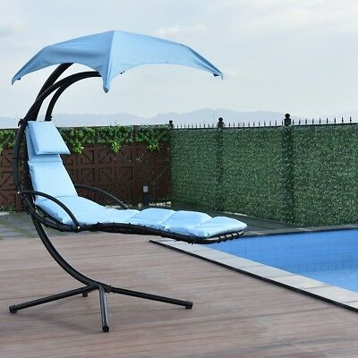 Arc Stand Air Porch Swing Canopy Hammock Chair Hanging Chaise Lounger 4 Colors
