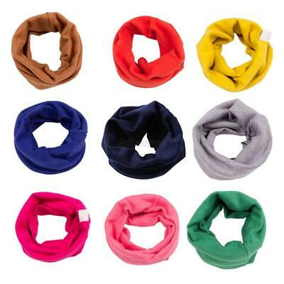 Toddler Kids Baby Neck Shawl Boy Girl Cotton Warm Scarf Neckerchief Scarves US