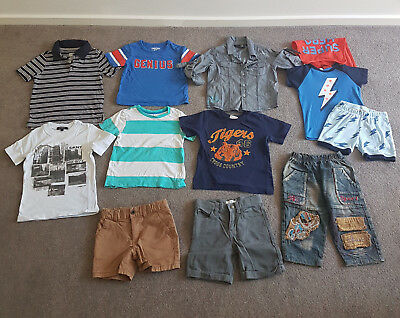 Boys Summer Clothing Bundle Bulk Lot T-Shirts Shorts PJ's Tops Size 3