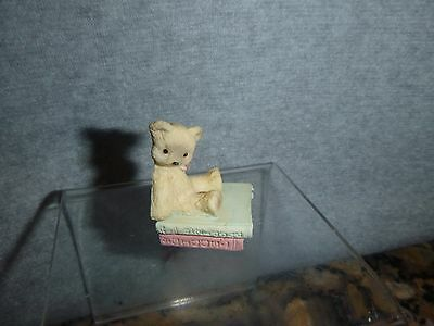 Doll House Minature Teddy Bear Sitting On Books