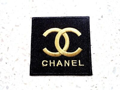 New Gold Chanel Logo Patch Embroider Cloth Patches Applique Badge Iron Sew On