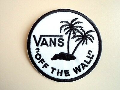 1x Vans Round Logo Patch Embroidered Cloth Applique Badge Patches Iron Sew On
