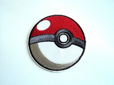 1x 3D Pokemon Ball Patches Embroidered Patch Cloth Applique Badge Iron Sew On