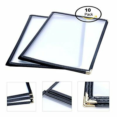 "10 Pack Menu Holders Triple Fold Cover For 8.5""x11"" Book Style Restaurant Rec"