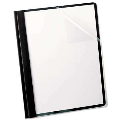 Oxford Linen Finish Clear Front Report Cover, 3 Fasteners, Lette 078787533066