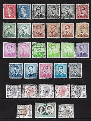 BELGIUM - mixed collection No.17, 1952-1971 King Baudouin, used