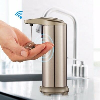 Handsfree Automatic IR Sensor Touchless Soap Liquid Dispenser Stainless Steel
