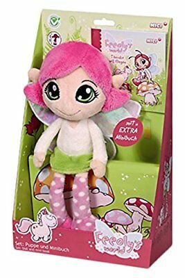 Nici Feeoly´s World Geschenkset Puppe Feeoly 30 cm mit Mini-Buch Rosa 38055