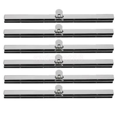6x Alloy Purse Frame Wallet Clasp Fastening Handbag Making Supplies 7.48 inch