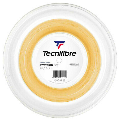 Tecnifibre Tennis String Synthetic Gut 1.30mm/16 - 200m Reel Gold - Free UK P&P