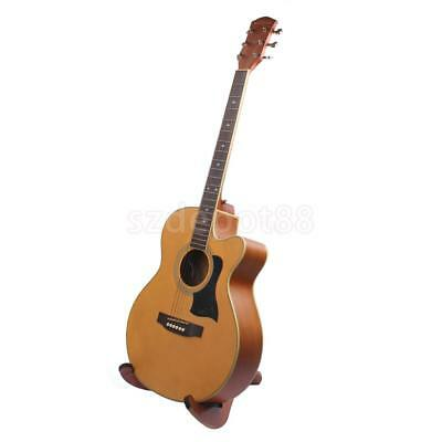 Foldable Wood Guitar Bass Stand Support Holder Storage Display Accessory
