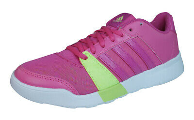 new concept 1319c 00a5b adidas Essential Fun Baskets Fitness Chaussures Running Gym Femmes Rose  Fonce