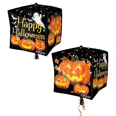 Halloween Happy Pumpkin Jack o Lantern Cubez Foil Balloon Party Decoration